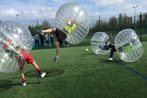 Bubble football party in newcastle